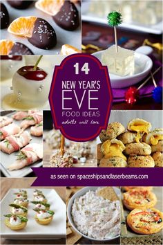 14 New Year's Eve Food Ideas Adults Will Love – Spaceships and. 14 New Year's Eve Food Ideas Adults Will Love New Years Eve Party Ideas Food, New Years Eve Menu, New Years Eve Dinner, Ideas Party, Nye Ideas, New Year's Eve Appetizers, Appetizer Recipes, Party Appetizers, Party Food And Drinks