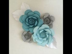 Paper Flower Backdrop - YouTube