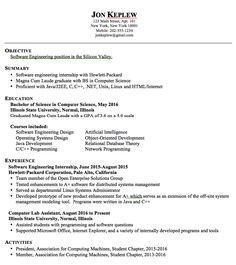 sample computer information system resume http