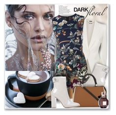"""Dark Floral"" by sneky ❤ liked on Polyvore featuring Alexander McQueen, Kenzo, Gianvito Rossi, MaxMara, Viktor & Rolf and darkflorals"