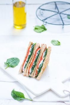 Salmon Spinach and Goat Cheese Sandwich