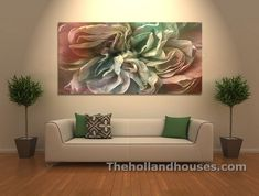 Abstract Flower Art Mounted Large Canvas Print For Decor Abstract Flower Art, Flower Canvas, Abstract Wall Art, Large Canvas Wall Art, Diy Canvas, Artwork Prints, Canvas Art Prints, Canvas Paintings, Design Furniture