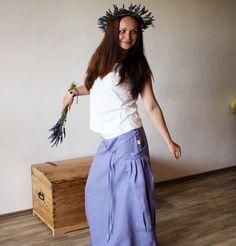 Bohémská lněná lavender (S-M) / Zboží prodejce krakatice | Fler.cz