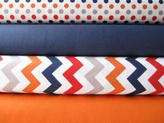 BOY Small Chevrons Small Dots and Solids Fabric by minimushrooms