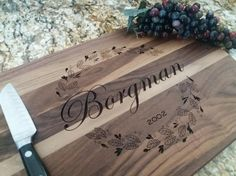 Vine Laser Engraved personalized Cutting by MADCreationsDesigns