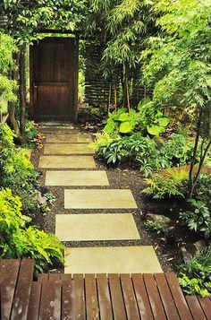 Mid-Century Path, Hardwood Deck | Flickr - Photo Sharing!
