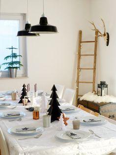 Die Wohnsinnige // Christmas Table   Tischdekoration Weihnachten
