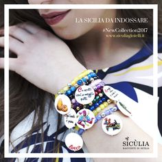 Bracciali in agata e pietra lavica! Charmes dipinti a mano in madreperla! #SicùliaGioielli #NewCollection Sicily, Bracelet Watch, Bracelets, Accessories, Jewelry, Style, Fashion, Swag, Moda