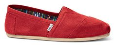 TOMS Mens Classic Canvas Slip On Red 12 DM US * Check out the image by visiting the link. (This is an affiliate link) Womens Fashion Sneakers, Toms, Image Link, Slip On, Women's Fashion, Canvas, Detail, Classic, Check
