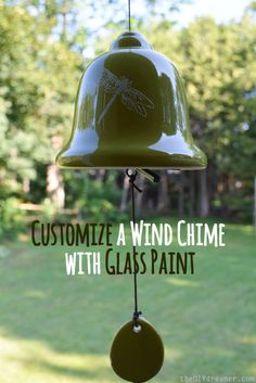 Customize a Wind Chime with Glass Paint - theDIYdreamer.com #12MonthsOfMartha #MarthaStewartCrafts
