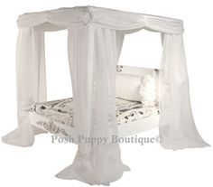 Luxury Couture Canopy Bed- Jezebel - Beds, Blankets & Furniture - Furniture Couture Style Beds Posh Puppy Boutique