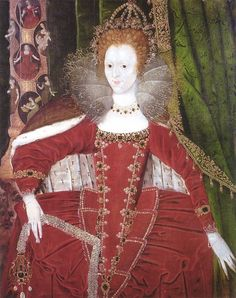 A lesser-known portrait of Queen Elizabeth I. By an unknown artist, c.1595. (Private Collection)