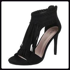 Damen Schuhe 99 138 Sandaletten High Heels Pumps Synthetik In Hochwertiger Wildlederoptik Schwarz Gr 37 Sandalen Fur Fr Schuhe Damen Sandaletten Pumps