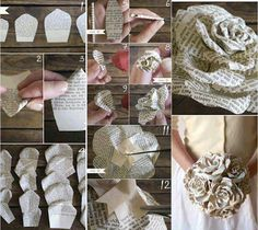 Paper flowers ♡♡♡ I love these!!!!!!!!!