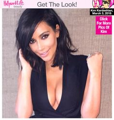 Kim looked hot in a series of Instagram pics she posted on March 3. Her textured bob looked healthy and full -- get her drugstore must-haves below!