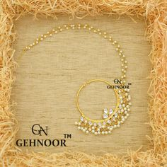 Kundan and Fine Pearl Studded Nath/NoseRIng CODE-GNA002NT