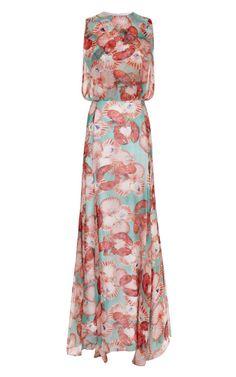 Shop Lobster+Maxi+Dress+by+Isolda+-+Moda+Operandi