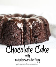 Ultimate Chocolate Cake from a Cake Mix - Walking on Sunshine Recipes.  Sometimes the best chocolate cake really does start from a cake mix. All you need is to add a few extras from your pantry and you can have the best chocolate cake ever for your family and friends.