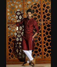 is he married? Punjabi Kurta Pajama Men, Kurta Men, Punjabi Boys, Mens Fashion Wear, Suit Fashion, Fashion Fall, Fashion Ideas, Groom Wear, Groom Outfit
