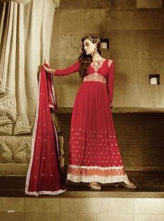 Awesome Red Georgette Anarkali Salwar Kameez1468