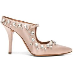 Givenchy Feminine Satin Crystal Mule (610.825 CRC) ❤ liked on Polyvore  featuring shoes 85ebef87b45