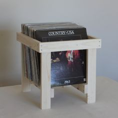 LP Record Crate in Solid Pine by LLTTgoods on Etsy, $54.00