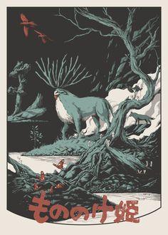 Princess Mononoke (1997) by Joe Wilson