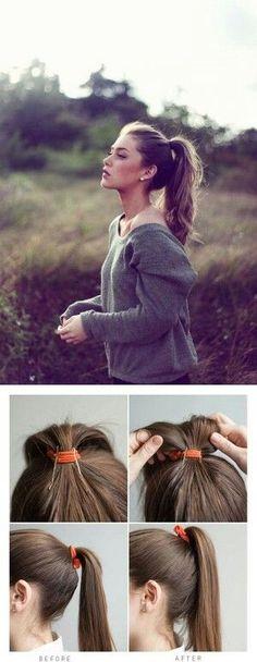Hair Hack: Ponytail Lift | #hairstylesandhacks #hairhacks