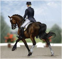 dressage horse & rider