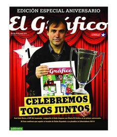 Portada del primer aniversario del diario El Gráfico. 28-05-2013. Puedes leer la edición completa en www.elgraficochile.cl