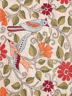 Birds Scarf, pattern, floral