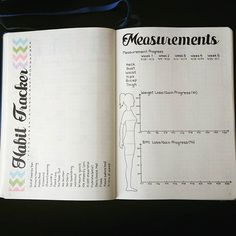 Habit and Measurement Trackers #bulletjournaljunkies #bulletjournal #planner…