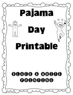 Pajama Day Free Printable