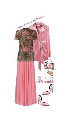 """I Wear Pink for all Women'"" by dianefantasy ❤ liked on Polyvore featuring Ssheena, Dolce&Gabbana, polyvorecommunity, polyvoreeditorial and IWearPinkFor"