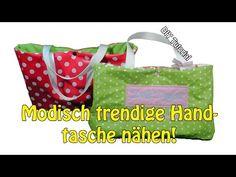 DIY   Modisch trendige kleine Handtasche selber nähen   Nähen für Anfänger   Tutorial - YouTube