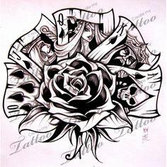 Marketplace Tattoo Royal Flush #5736   CreateMyTattoo.com