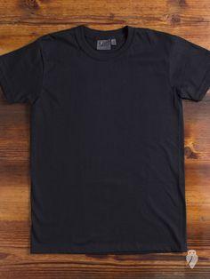 """Circular-Knit"" 10oz T-Shirt in Black"