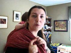Babywearing Tutorial: Ruck tied under bum (RUB) using a short wrap, Didymos size 3.