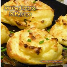 Mashed Potato (Cauliflower) Puffy Cups from The Biker Chick's Kitchen -- see comments regarding receipe