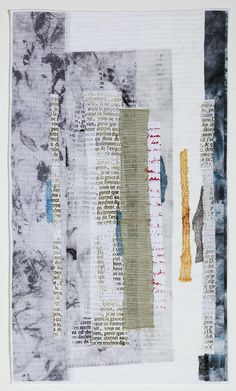 Softly Spoken by Jette Clover (Belgium). Art quilt; Patchwork Europe.