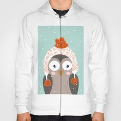 Buy Owl Under Snow in the Christmas Time. Hoody by mr0frankenstein. Worldwide shipping available at Society6.com. Just one of millions of high quality products available.