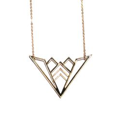 Geometric Wing Necklace (More Colors) on @BRIKA
