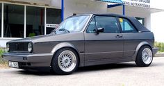 Mk1 cab bbs Rm Golf 1 Cabriolet, Vw Golf Cabrio, Vw Mk1, Volkswagen Golf, Mk 1, Diy Car, Car Pictures, Vintage Cars, Cool Cars