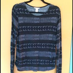 H&M Tribal print long-sleeve Long sleeve t shirt from h&m. Worn 3-4 times. H&M Tops Tees - Long Sleeve