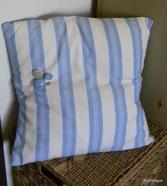Vintage and Upcycled Fabric Throw Pillow with by RustIsVogue, $25.00