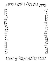 Borders and Frames: Music Themed Black and White Borders For Paper, Borders And Frames, Page Borders Free, Music Border, Music Symbols, Music Worksheets, Notes Template, Templates, Music Crafts