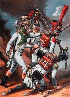 "Regno di Spagna - ""Spanish Regiment 'Joseph-Napoleon' Officer, Voltigeurs, Grenadier, 1810-1812"""