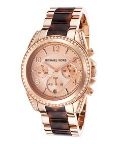 Look what I found on #zulily! Rose Goldtone Blair Chronograph Watch by Michael Kors #zulilyfinds