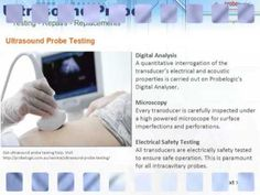 Ultrasound probe services - probe testing, repairs and replacements