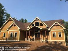 Rustic Escape Home Plan - 92350MX | Craftsman, Mountain, Northwest, Exclusive, Photo Gallery, 1st Floor Master Suite, Butler Walk-in Pantry, CAD Available, Loft, Media-Game-Home Theater, PDF, Corner Lot, Sloping Lot | Architectural Designs